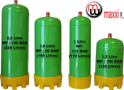 Maxxiline bouteilles de gaz jetables d 39 h lium argon ar co2 ar o2 co2 e290 azote - Bouteille d argon ...