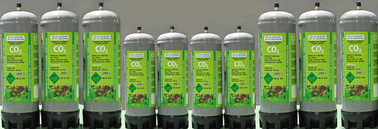 Gas bottles for Aquarium